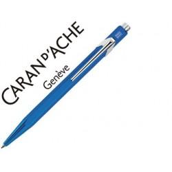 Boligrafo caran d'ache 849 metalizado azul punta media