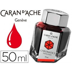Tinta estilografica caran d'ache chromatics de 50 ml rojo infrarrojo