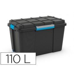 Contenedor plastico cep scuba 110 litros 460x445x735 mm con 4 asas y ruedas
