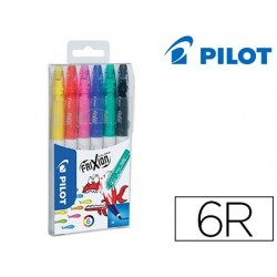 Rotulador pilot frixion colors bolsa de 6 colores surtidos