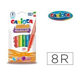 Rotulador carioca neon caja de 8 colores