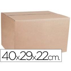 Caja para embalar q-connect medidas 400x290x220 mm espesor carton 4,9 mm