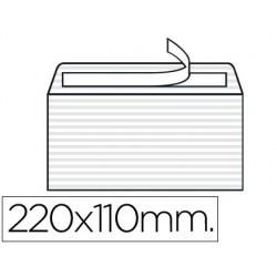 Sobre liderpapel verjurado blanco 120 gr tira silicona 110x220mm caja de 250 unidades