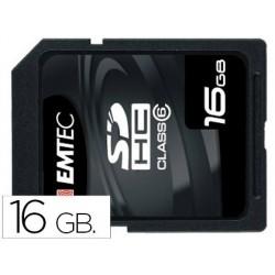 Memoria sdhc emtec flash 16 gb clase 6