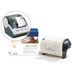 Etiqueta brother dk11241 para impresoras de etiquetas ql-1050/n/1060n -envios 200 etiquetas- 102x152mm
