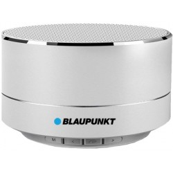 Altavoz blaupunkt portatil mini bluetooth potencia de salida 5w color plata