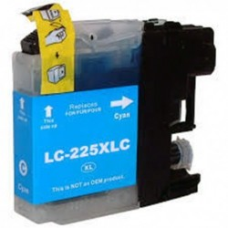 LC225XLC Brother Cartucho de Tinta Cyan Compatible