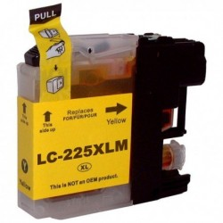 LC225XLY Brother Cartucho de Tinta Yellow Compatible