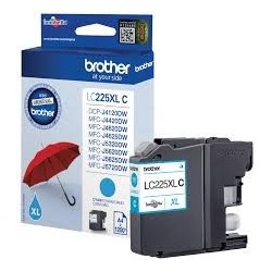 LC225XLCBP Brother Cartucho Tinta Cyan Original