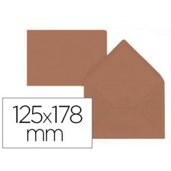 Sobre liderpapel b6 marron 125x178 mm 80gr pack de 15 unidades