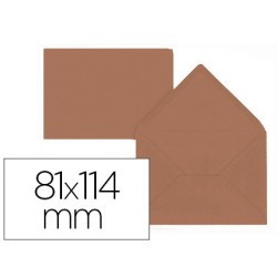 Sobre liderpapel c7 marron 81x114 mm 80gr pack de 12 unidades