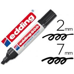 Rotulador EDDING Marcador Permanete 500 NEGRO -PUNTA BISELADA 7 MM