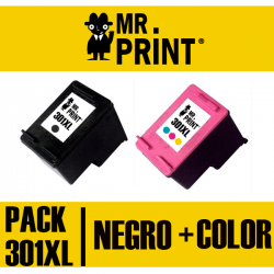 PACK  HP301XL Negro + Color  (CH563EE) Cartucho HP Remanufactured
