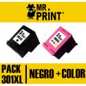 301XL Pack Negro y Tricolor compatible para HP