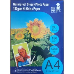 Papel Foto DIN4 Glossy pack 20 uds.
