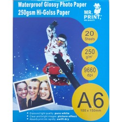 Papel Foto A6 Glossy pack 20 uds. 250GR.