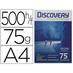 Papel DISCOVERY DIN A4 75 gramos papel multiuso paquete de 500 hojas