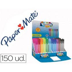 Boligrafo paper mate inkjoy 100 punta media trazo 1 mm expositor de 150 unidades