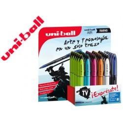 Boligrafo uni-ball roller air micro samurai uba-188el-m expositor de 36 unidades colores surtidos tinta azul