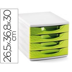 Fichero cajones de sobremesa cep 265x368x300 mm 4 cajones color verde