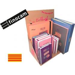 Agenda espiral finocam talkual 2018-2019 expositor de 15 unidades surtidas catalan