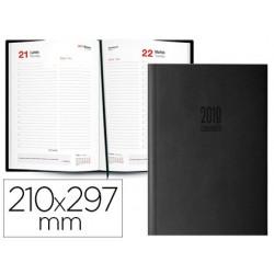Agenda encuadernada ingraf amsterdam 21x29,7 cm 2018 dia pagina color negro papel ecologico 80 gr