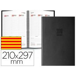Agenda espiral ingraf amsterdam 21x29,7 cm 2018 semana vista color negro papel ecologico 80 gr texto