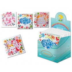 Tarjeta postal arguval flores troqueladas modelos surtidos