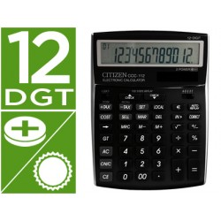 Calculadora citizen sobremesa ccc-112 b 12 digitos negra 202x155x33 mm