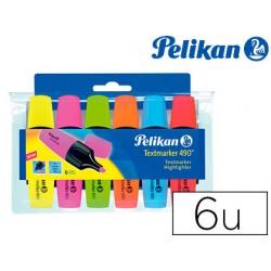 Rotulador pelikan fluorescente textmarker 490 estuche 6 unidades colores surtidos