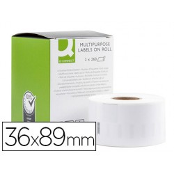 Etiqueta adhesiva q-connect kf18537 compatible dymo 99012 tamaño 36x89 mm caja con 520 etiquetas