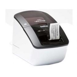 Impresora de etiquetas brother ql-710w hasta 62mm hasta 93 etiq/min corte automatico 300x600pp usb/serie/red