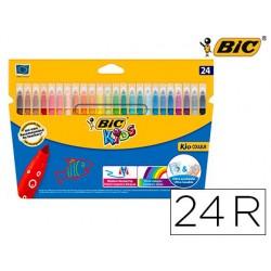 Rotulador bic kids couleur estuche de 24 colores tinta base de agua lavable