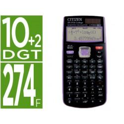 Calculadora citizen cientifica sr-270x college 274 funciones 10+2 digitos 165x84x20 mm negra/violeta