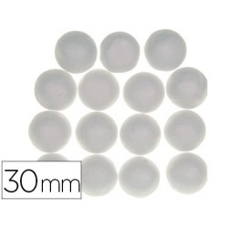 Bolas de porexpan color blanco 30 mm bolsa de 12 unidades