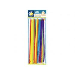 Varillas de chenille 30cm bolsas de 20 unidades colores neon surtidos