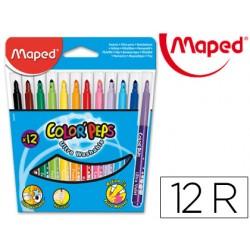 Rotulador color peps estuche de 12 colores