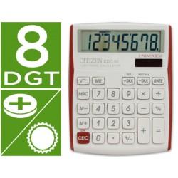 Calculadora citizen sobremesa cdc-80 8 digitos vivid bordes rojos