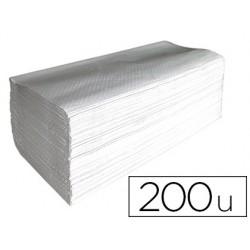 Toalla de papel mano engarzada ecologica 1 capa 20x23 cm paquete de 200 unidades