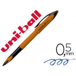 Boligrafo uni-ball roller air micro uba-188el-m 0,5 mm naranja tinta azul