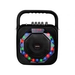 Altavoz daewoo portatil dsk-360 microfono inalambrico luces led usb entrada jack potencia 20w color negro