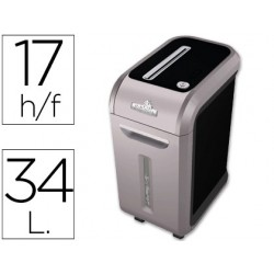 Destructora de documentos fellowes 99ci capacidad 17 hojas corte en particulas safe sense jam proof 18 kg