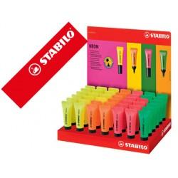 Rotulador stabilo neon fluorescente 72 expositor de 42 unidades colores surtidos