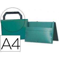 Carpeta beautone portadocumentos broche 34863 polipropileno din a4 verde -con asa