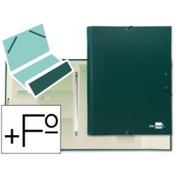 Carpeta clasificadora liderpapel 12 departamentos folio prolongado carton forrado verde