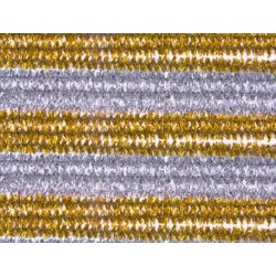 Varillas de chenilles oro-plata 50 cm x 0,6 mm blister de 14 unidades