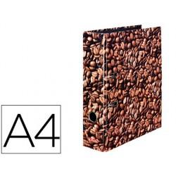 Archivador de palanca herlitz a4 con rado lomo 80 mm caf