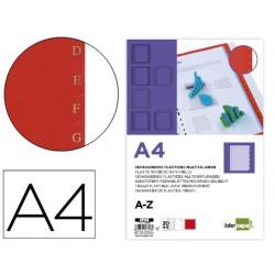 Separador liderpapel plastico alfabetico a-z din a4 16 taladros juego