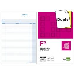 Talonario liderpapel facturas folio original y copia t224 sin i.v.a.