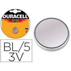 Pila duracell alcalina cr2032 boton blister de 5 unidades